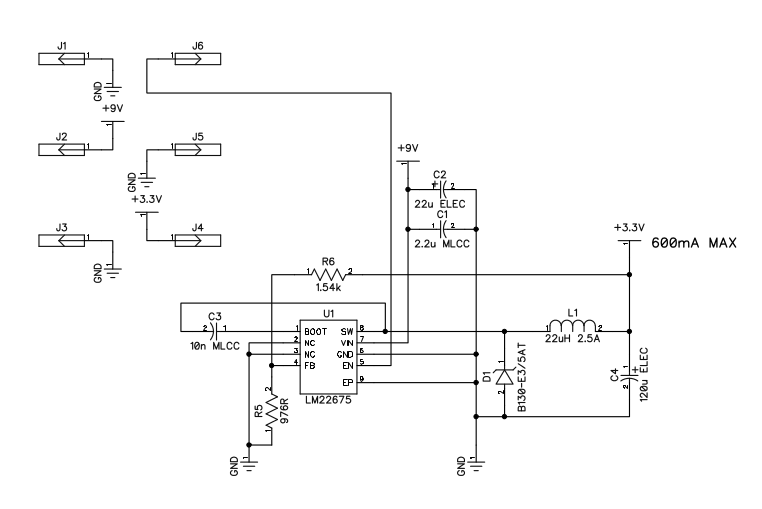 3.3V switching regulator schematic