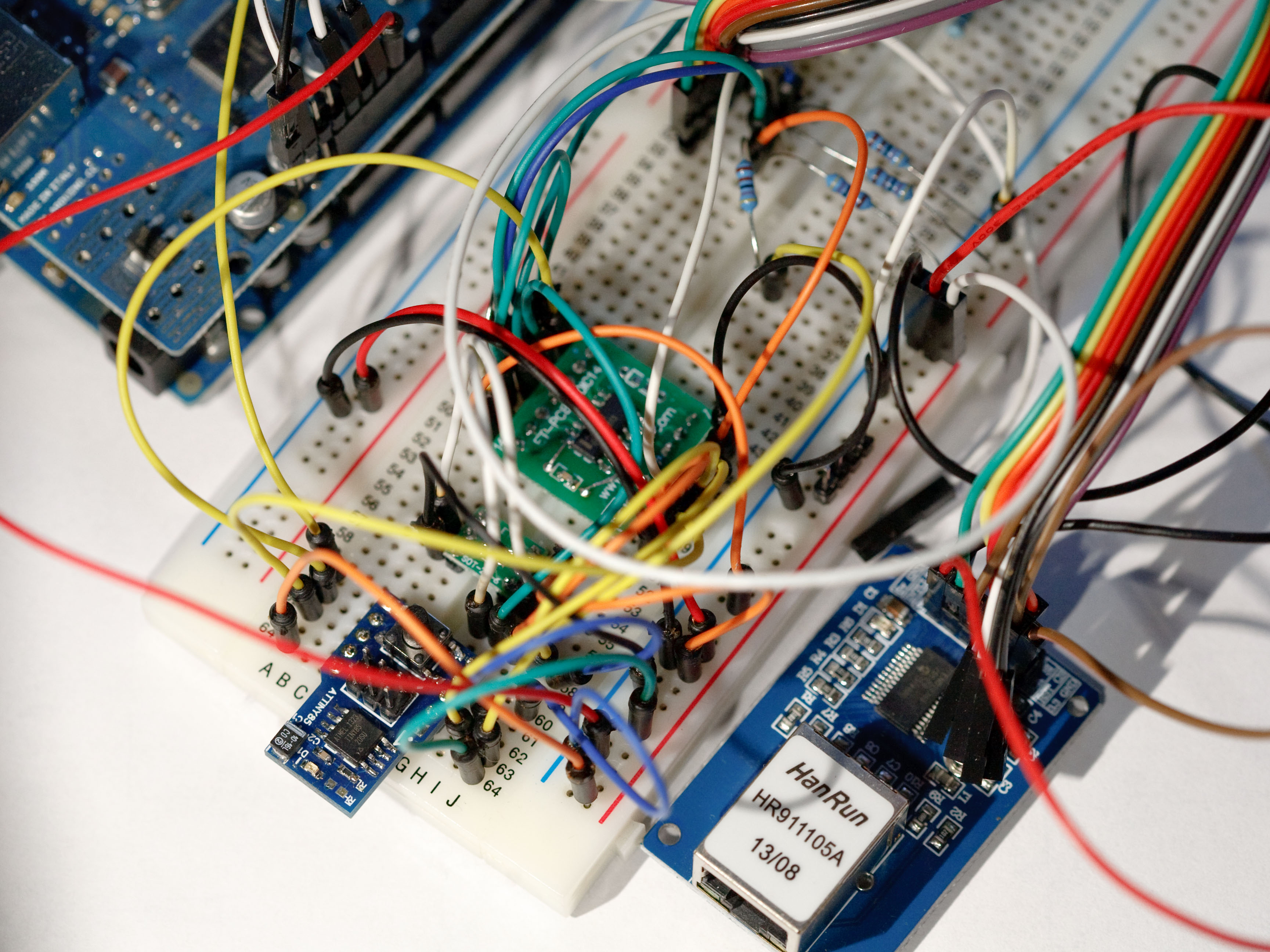 Ld Raspberry Pi Controller Circuit Picture Sorry About The Messy Wiring Attiny85 Proto